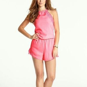 GUESS The Flirty Awesome Pink Romper with Lace